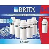 Brita 101931 Pack de 5 Cartouches CLASSIC + 1 offerte