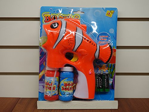 Clown Fish Bubble Gun with Lights and Sound!!