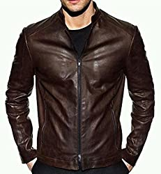 Zayn Leather Men's Leather Jacket (520_WLJ_Brown_Small)