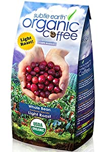 2LB Cafe Don Pablo Subtle Earth Organic Gourmet Coffee *Light Roast* Whole Bean - 2 Lb Bag