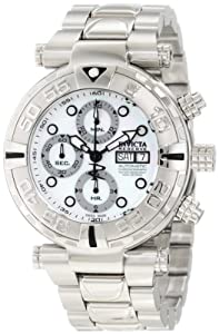 Invicta Men's 10479 Subaqua Noma I Reserve Automatic Chronograph Mother-Of-Pearl Dial Stainless Steel Watch