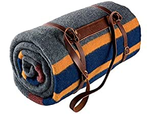 Pendleton Lake Twin Camp Blanket W Leather Carrier