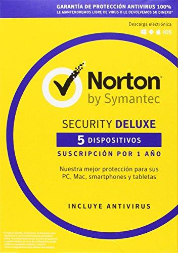 Norton Security Deluxe 2016 - Antivirus, 5 Dispositivos #8156