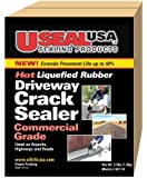 Useal USA Hot Liquefied Rubber, Driveway Crack Sealer, 40 Ft #68118