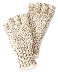 Fox River Fingerless Ragg Glove (Brown Tweed, Small)
