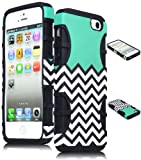 Bastex Heavy Duty Hybrid Case for iPhone 5, 5s, 5th Generation