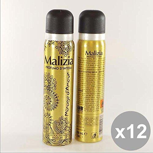 Set 12 MALIZIA Deodorante Donna Spray 100 Amour Deodoranti per il corpo