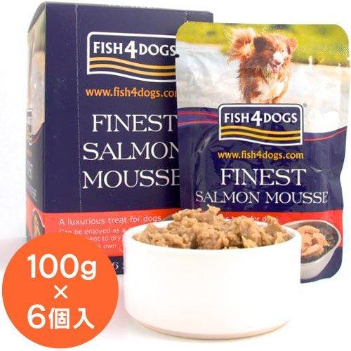 Fish4Dogs Saumon Mousse 4 chien, 100 g, Lot de 6