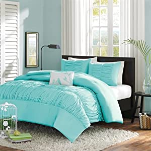 Mirimar Comforter Set Color: Blue, Size: King
