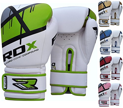 RDX Maya Hide Leather Boxing Gloves Gel Sparring Glove Punching Bag Mitts Training Muay Thai F7