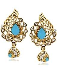 VK Jewels Sky Blue Stone Gold Plated Alloy Drop Earring Set For Women & Girls -ERZ1306G [VKERZ1306G]