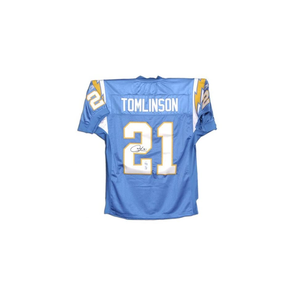 Ladainian Tomlinson San Diego Chargers Autographed Reebok Authentic Jersey