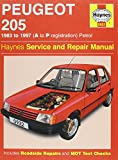 Peugeot 205 Petrol (1983-1997) Service and Repair Manual (Haynes Service and Repair Manuals)