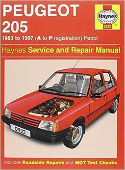 peugeot 205 petrol 1983 1997 service and repair manual. Black Bedroom Furniture Sets. Home Design Ideas