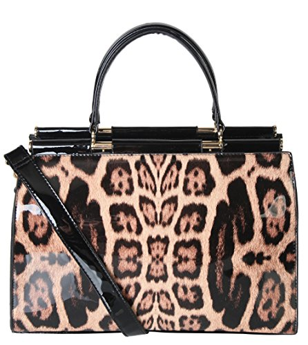 rimen-co-pu-patent-leather-leopard-structured-doctor-style-handbag-bag-bm-2753-taupe