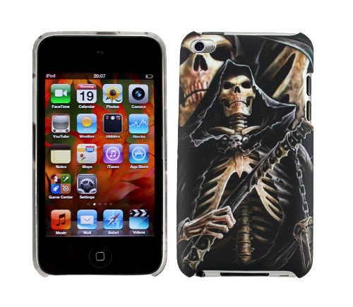 cellmax Apple Ipod Touch 4 4th Generation Hard Shell Back Protection Skelton Skull Pattern Case Cover Skin Slim Clip On Protection