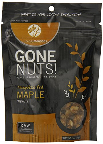 Living Intentions Gone Nuts, Mesquite Pod Maple, Walnuts, 3 Ounce