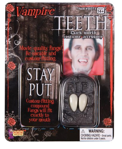 Classic Vampire Fangs - Stay Put One Parir