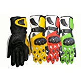 Armored Gauntlet Leather Racing Gloves - LeatherBull(Free U.S. Shipping)