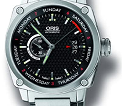 Oris Men's 4154MB BC4 Black Dial Bracelet Watch