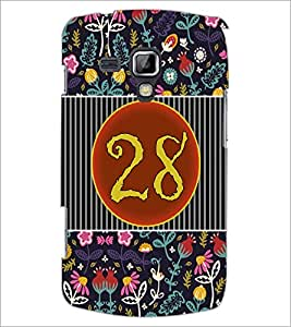 PrintDhaba Numerology Number 28 D-3117 Back Case Cover for SAMSUNG GALAXY S DUOS S7562 (Multi-Coloured)