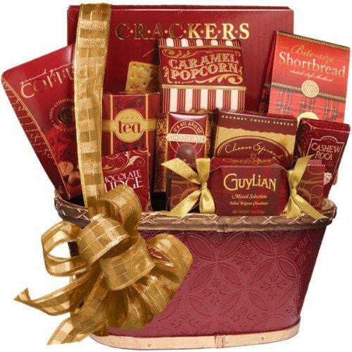 Holiday Greetings Gourmet Food Gift Basket