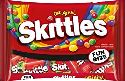 Skittles Fun Size Bag, Assorted (Pack of 2)