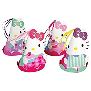 Meri Meri Hello Kitty Party Hats (Set of 8) by Meri Meri