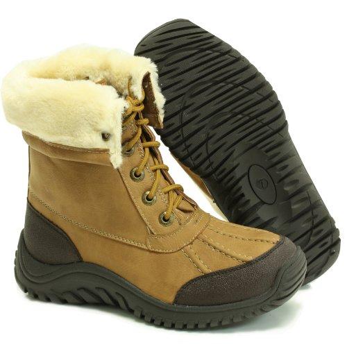 Lamo Apres PW5010 Vanessa Adirondack Rain Snow Boots Chestnut 8 M