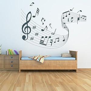 Note musicale Score Stickers Muraux Musique Sticker Art Disponible en