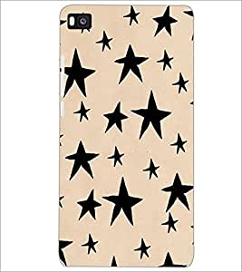 PrintDhaba Stars Design D-1451 Back Case Cover for HUAWEI P8 (Multi-Coloured)