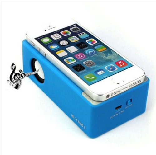 Cidoss® Blue Portable Near Field Mini Wireless Electromagnetic Amplifier Magic Mutual Induction Sound Player Music Speaker Box For Iphone 5 4S Htc Samsung And All Other Phones & Digital Media Device, Built-In Lithium Polymer Battery