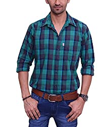 Ballard Men's Casual Shirt (BCS0007_Blue_40)