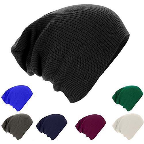 Gellwhu 7-Pack Unisex Winter Warm Knit Slouchy Baggy Skull Ski Hat Cap Beanie (Mens Skiing Package compare prices)