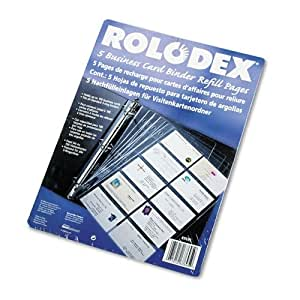 Amazon Rolodex Business Card Binder Refill Pages