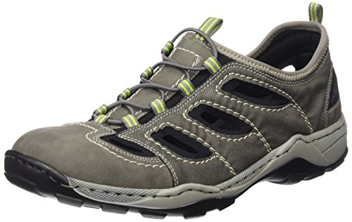 Rieker08065 Sneakers-Men - Scarpe da Ginnastica Basse Uomo , Grigio (Grau (cement/cenere/schwarz / 40)), 47