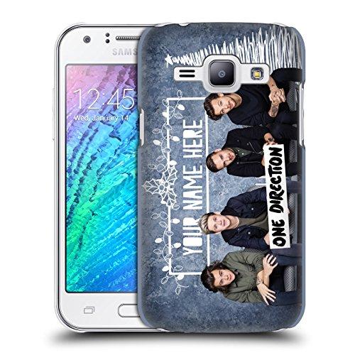 Personalizzata Personale One Direction 1D Solo Testo Personalizzato Natale Hard Case Per Samsung Galaxy J1