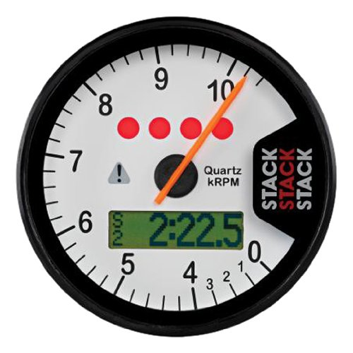 "1-7//8/"" Mini Programmable Electronic Speedometer Speedo Black//White Face f Harley"