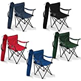#4: divinext Folding Camping Small Chair Portable Fishing Beach Outdoor Collapsible Chairs- Color May Vay
