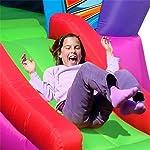 11FT Space Shuttle bouncy castle, showing girl sliding down ramp