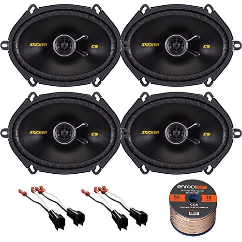 "Kicker 40CS684 6x8"" 2-Way Car Coaxial Stereo Speakers – Best Product for A Drop-In, Manageable Audio"