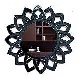Venetian Design Wall Mirror VDS-34 Size 24x24 Inches Black Colour