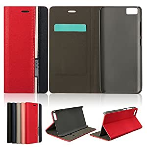 Mohoo Flip Leather Case Card Slot PC Cover Skin Stand For Xiaomi M5**