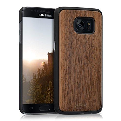 kalibri-Schutzhlle-aus-Holz-fr-Samsung-Galaxy-S7-Premium-Echtholz-Case-Cover-mit-Kunststoff-in-Dunkelbraun