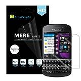 GreatShield MERE Mark II Ultra Clear (HD) Screen Protector Film for BlackBerry Q10 - LIFETIME WARRANTY (Retail Packaging) - 3 Pack