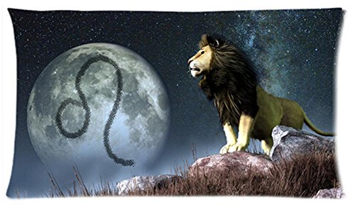 One Side Custom Rectangle Leo Of Zodiac Pillow Cases 20X36 Inch front-977016