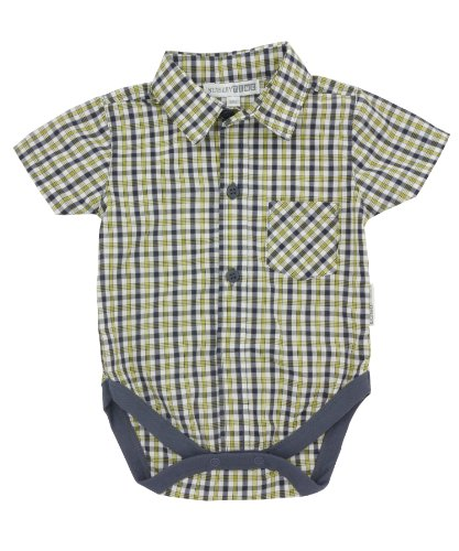 Nursery Time Check Shirt Vest - Sunset - 0-6 Months front-107169
