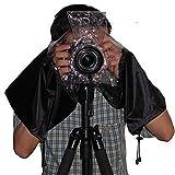 Luniquz Universal Camera Rain Cover Raincoat Waterproof Dust Protector for SLR Digital Camera Canon - Nikon - Sony - Pentax - Olympus - Fuji & More