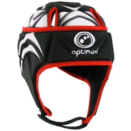 Optimum Blitz Extreme Headguard Men's Head Protection - Black/Red, Large