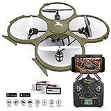 Kolibri-U818A-Wi-Fi-Discovery-Delta-Recon-Quadcopter-Drone-Tactical-Edition-with-720p-HD-Camera-Military-Matte-Drab-Green